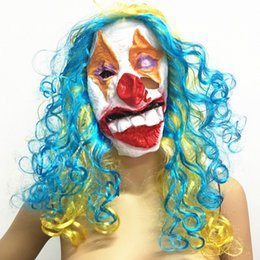Full Face Party Masquerade Costume Masks Latex funny face mask Clown Mask Payday Joker Halloween Scary Clown Masks Random