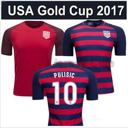 NEW top Thai quality 2017 2018 USA soccer jersey shirt third red Gold Cup Football shirt PULISIC 17 18 USA Camiseta DEMPSEY maillot de foot