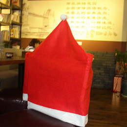 Christmas decorations creative arrangement holiday ornaments restaurant chair sets Christmas hat products