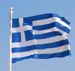 90*150cm Greece Flag Banner - Vivid Color and UV Fade Resistant - 100% Polyester Greek National Flags with Brass Grommets