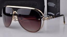 New 2016 Frog Mirror Sunglasses Men Glasses Vintage Anti UV Chrome Mens Sunglasses Designer Free Shipping