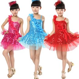 New Girls Ballet Latin Jazz Dancewear Dress kids Ballroom Competitions Hip Hop Dancing Costumes Performance Party stagewear dress