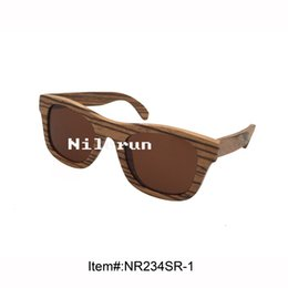 popular zebra wood sunglasses with brown polarized lens