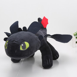 In Stock The Movie How to Train Your Dragon 40cm 15.8'' Toothless Night Fury Plush Doll Soft Stuffed Toy
