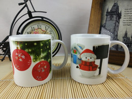 Wholesale stone ware Straight body Change the color christmas mug coffee cup Color Changing Coffee Cup