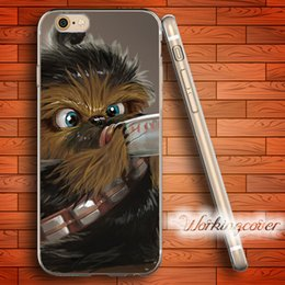 Fundas Star Wars Chewbacca Soft Clear TPU Case for iPhone 6 6S 7 Plus 5S SE 5 5C 4S 4 Case Silicone Cover.