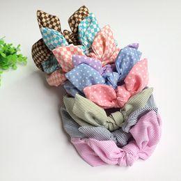 Wholesale 9 Fashion Cute Baby Girl Headband Bow Cotton High Quality Elastic headbands children hair accessory J1551