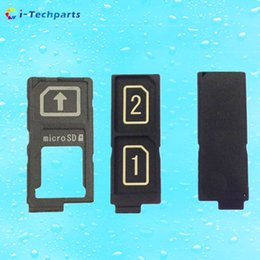Wholesale For Sony Z5 Single SIM and Dual SIM Card Tray Reader Contact Original New Black