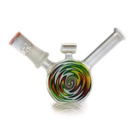 3 Inch Mini Colorful Cute glass bongs water glass pipes 14.4mm oil Rigs nail dome