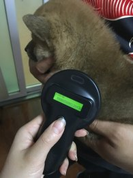 Wholesale FDX B Pet Microchip Scanner Animal RFID Tag Reader dog reader Low Frequency Handheld RFID Reader with a animal chip free