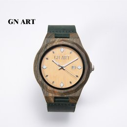 High Quality Wholesale Watch Natural Ebony Wrist Watch Wooden Watch