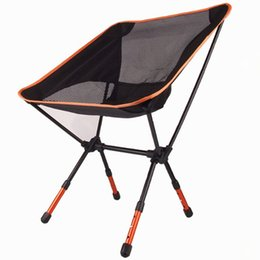 Wholesale High Quality Aluminium Alloy Mesh Portable Chair For Fishing Camping Outdoor Sports Ultralight Barbecue Folding Chairs