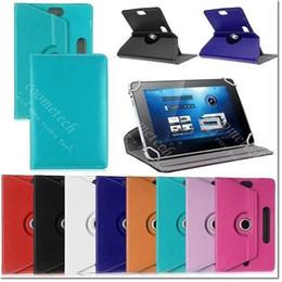Soportar pulgadas en Línea-Cubierta de cuero giratoria del soporte de la PU de la tableta IPAD 360 grados de la tableta para 7 8 9 cubiertas del tirón del doblez de la pulgada para el mini iPad 2 3 4 aire