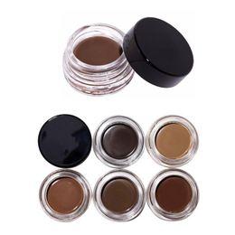 Les brunes à vendre-Crème pour les sourcils à la crème de sourcils de marque chaude Crème pour les sourcils 4g Auburn / Blonde / Chocolat / Brun foncé / Ebène / TAUPE / Marron moyen / Marron doux