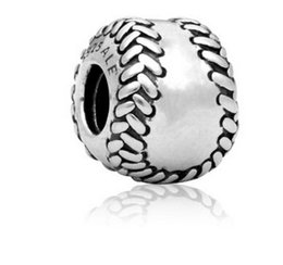 Wholesale Baseball Style Charm Beads Silve European Charms Bead Fit Pandora Snake Chain Bracelet Fashion DIY Jewelry Xmas