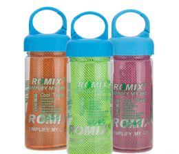 Bufanda para el frío en venta-30x90cm Toalla fría en botella de beber Fitness Yoga Verano Enfriamiento Toallas de doble capa Deportes al aire libre Hielo Escalera bufanda Pad