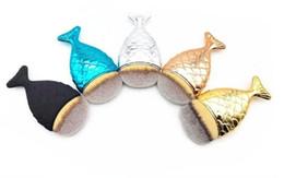 2017 bleu argent New Mermaid Makeup Brush Powder Contour Fish Scales Mermaidsalon Foundation Brush Gold Rose Or Argent Bleu Noir 5 couleurs Livraison gratuite bon marché bleu argent