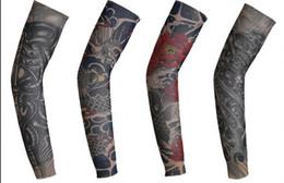Descuento ropa tatuado 3D Imprimir Tatuaje Nuevo Hombre De Ciclismo Ropa Deportiva Ropa Deportiva Al Aire Libre Ropa Deportiva Running Bike Bicycle Arm Warmers Sleeves