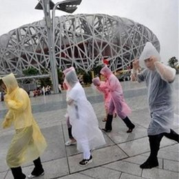 Wholesale 500pcs Free shipping Disposable PE Raincoat Rainwear Rainsuit Waterproof fashion Raincoat poncho