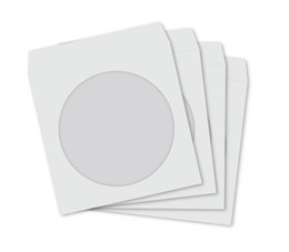 Wholesale 1500 WHITE Paper Sleeves Clear Window for CD DVD BD R BDR Covers Protectors APC DHL