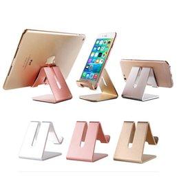Mobile Phone Tablet Desktop Bracket Aluminum alloy Piano Scrub Paint surface Phone Holder support iPone 6 6s 7 Plus iPad Samsung S7 S7 edge