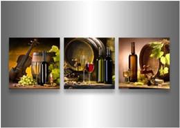 Купить Онлайн Древесное масло-3 шт стены искусства Современные Аннотация Большой дешевы осенних листьев клена Вудс Картина маслом на украшении дома Холст обрамлении