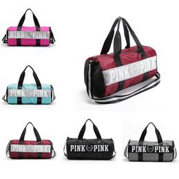 Wholesale 2017 Pink Handbags Love VS Pink Large Capacity Travel Duffle Striped Waterproof Beach Bag Shoulder Bag XL A63