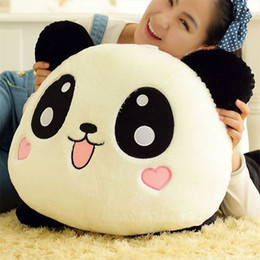 Acheter en ligne Oreillers panda en peluche-Hot Panda Peluche mignonne Poupée Jouets Peluches Pandas souple Pillow Haute Qualité Bolster Poupée Cadeau Bébé Enfants Jouet Poupées Animaux