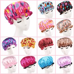 Promotion cheveux amicale Femmes Douche Cap Coloré Baignoire Douche Coiffure étanche Baignoire Cap Random Couleur Haute Qualité Livraison gratuite