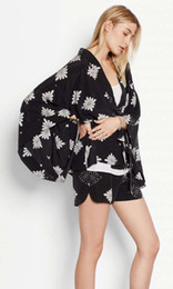 Wholesale same as joie equipment silk ladies apparel blouse cape sandwash cdc fabric snow print good handfeel