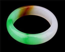 free shipping Natural jade Handmade Three-color bracelet Emerald color jade bracelet