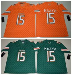 Brad Kaaya 15 2016 Miami Hurricanes College Football Jerseys Orange Green Size S-3XL