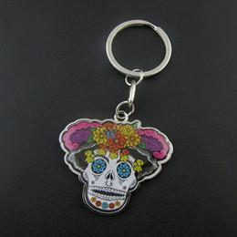 New style skull keychain design,smart custom acrylic keychain maker