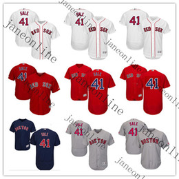 Wholesale 41 Chris Sale Boston Red Sox Road Gray Flex Base Authentic Collection Player Jersey Chris Sale Cool Base Player Jersey Stitched