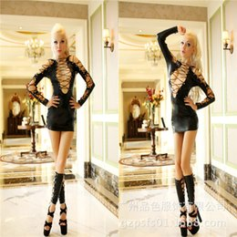 Wholesale - Sexy Lingerie Black club wear Black Dance Mini Dress B748 one Size