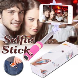 Foldable Super Mini Wired Selfie Stick Handheld in Bluetooth Control Shutter Extendable Monopod Wired Handle Compatible With Phone
