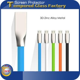 Wholesale 3D USB Cable Curve Wire Colorful Zinc Alloy Metal Micro USB Fast Charging Strong USB Data Sync Cable Length M