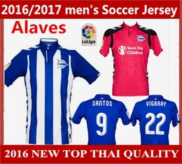 Wholesale Alaves Soccer jerseys Spanish League Alaves football shirt home Away Alaves jerseys Short sleeve Best quality free delivery