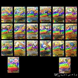 Wholesale 20pcs Poke Cards English MEGA EX Cards Kids Trading Toy Card Gift for Children Pikachu Christmas Toys Gift A001