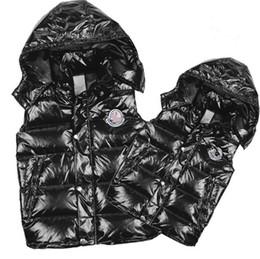 Wholesale Classic Men and women brand winter down vest feather weskit jackets womens casual vests coat outer wear size S XXXL