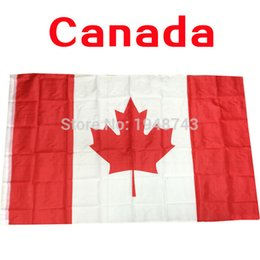 Wholesale 2016 The Canada flag Maple leaf Polyester Flag FT CM OR FT High Quality Add elelets or stick pole