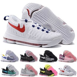 Wholesale With Box Kd Basketball Shoes Sneakers Runing Kevins Kds VIIII Lowe Elite Blue Durant Men s Athletic Kd9 Sports Shoes