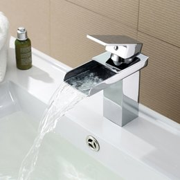Wholesale New popular basin faucet bathroom single handle square led sink mixer taps for bath