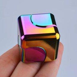 Metal Rainbow Fidget Spinner Handfinger Spinner Fingertip Gyro Style Rubik's Cube High Speed Stress Reducer EDC Fidget Finger Spinner with