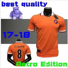 .top Thai quality Retro 1988 World Cup champion Netherlands Soccer Jersey 1988 Holland Retro soccer jersey BERGKAMP Football shirts