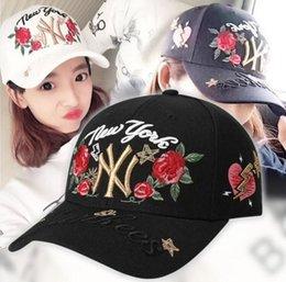Red ROSE Yankees Hip Hop MLB Snapback Baseball Caps NY Hats MLB Unisex Sports New York Adjustable Bone Women casquette Men Casual headware
