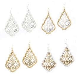 Wholesale Christmas Gift Kendra Style Styles Mix Alloy Metal Faux Resin Stone Oval Earrings Resin Druzy Dangle Earrings for Women