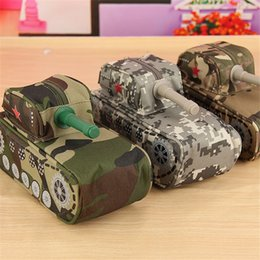Canada Vente en gros-Nouvelle Arrivée Cool Mode Grande Capacité Tank School Pencil Case Papeterie Creative Pencil Box Pen Sac Avec Lock Cheap Sale large school bags sale promotion Offre