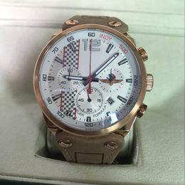 Wholesale Tag Mens Watch Calibre formula Quartz Stopwatch Chronograph Anniversary Men Watches Brown Leather Strap Original Clasp