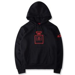 2017 spoof luxury FOUR TWO FOUR 424 hoodie vêtements de marque Hip Hop parfum carottes bouteille imprimé 424 sweatshirt sup ye zzy hoodie à partir de deux usure fabricateur